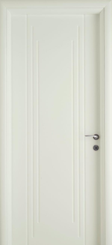 Εσωτερικές πόρτες, Ξύλινη, Σπιτιού, Exclusive, Επίπεδη, Λευκή
