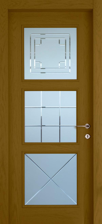 Εσωτερικές πόρτες, Ξύλινη, Σπιτιού, Exclusive, Ταμπλαδωτή, Τζαμωτή